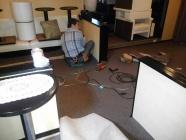 店舗内の床カーペット張替え工事