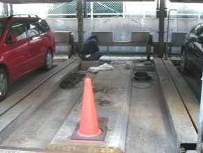 横行ケーブル交換工事