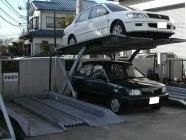 単純二段式駐車設備