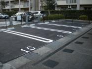 平置き駐車場へ改修工事