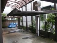 リフト式駐車装置の解体工事