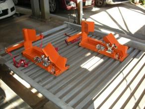 バイク固定装置RinCamの使用例1