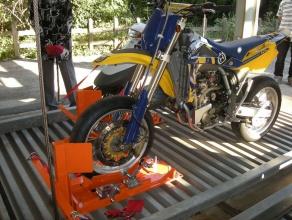 バイク固定装置RinCamの使用例2