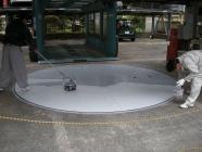 ターンテーブルの補修、塗装工事