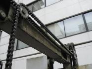 機械式駐車装置のチェーン部品交換工事