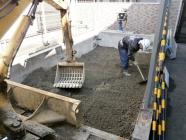 機械駐車場解体後、ピット埋め戻し工事