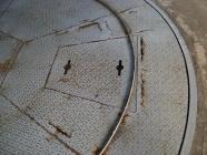 ターンテーブルの解体工事