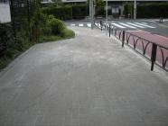 歩道のインターロッキング補修工事