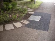 歩道の水溜り箇所に排水桝を設置する工事